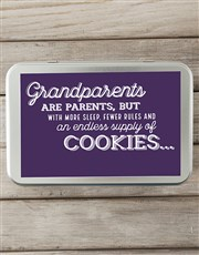Personalised Grandparents Snack Tin
