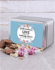 Personalised Grandma Snack Tin