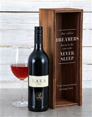 Personalised Dreamers Wine Crate