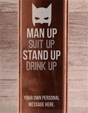 Personalised Suit Up Wine Crate