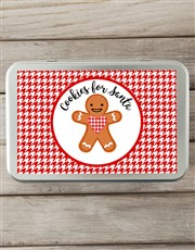 Personalised Cookies for Santa Snack Tin