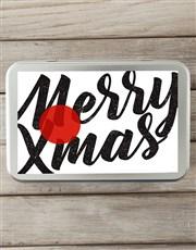 Personalised Merry Xmas Snack Tin