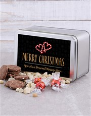 Personalised Candy Cane Snack Tin