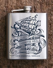 Spoil that smooth sailor with this hipflask which