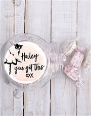 Personalised You Got This Candy Jar
