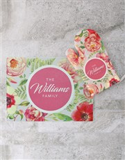 Personalised Floral Design Glass Chopping Board