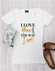 Spread the love with this white ladies T-shirt whi