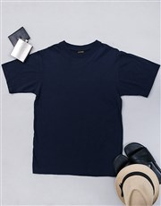 Spoil the newly married couple with this navy T-sh