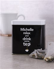 Personalised Relax Tea Tin
