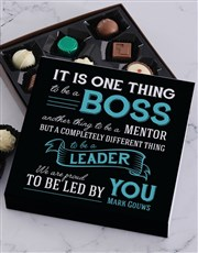 Show your boss how proud you are to be led by him