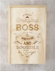 Personalised Amazing Boss Chocolate Crate