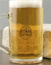 Let that great boss drink in style with a beer gla