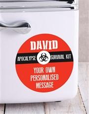 Personalised  Survival Kit Desk Fridge