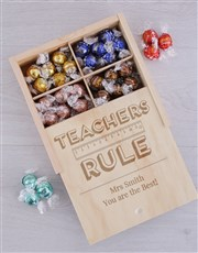 Personalised Teachers Rule Lindt Tray