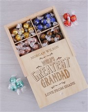 Personalised Greatest Grandad Lindt Tray