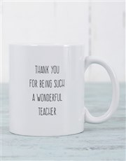 Thank that wonderful teacher with a mug which has