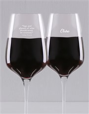 Spoil that well aged wine lover with a red or whit