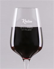Make sure the glass in always half full with a red