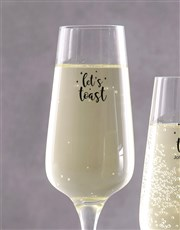 Toast to the good times with champagne glasses whi