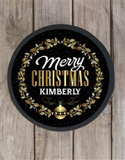 Personalised Golden Christmas Chocolate Hat Box
