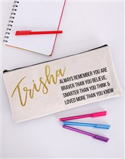 Everybody needs a personalised pencil case, whethe