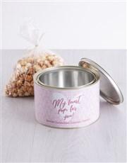 Personalised My Heart Popcorn Tin