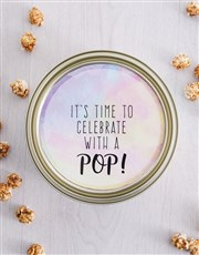 Personalised Celebrate Popcorn Tin