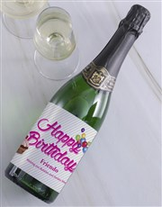 Happy Birthday Personalised Bubbly