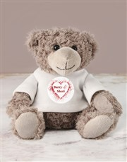 Show your love with a cuddly teddy bear which wear
