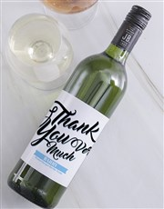Personalised Thank You Wine