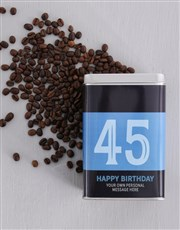 Make it a special birthday with this silver coffee