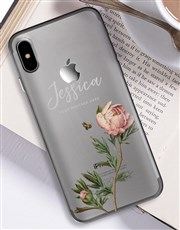 Personalised Rose iPhone Cover