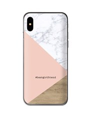 Personalised Blush Marble iPhone Cover