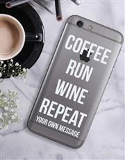 Personalised Run Repeat iPhone Cover