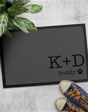 Personalised Paw Print Doormat