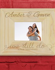 Celebrate that anniversary with this wooden photo