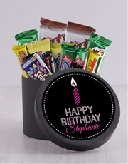 Personalised Birthday Candle Hat Box
