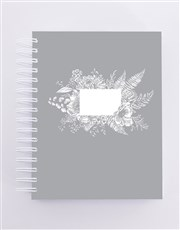 Personalised Floral Journal