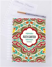 Personalised  Bold Patterned Journal