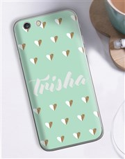 Personalised Hearts iPhone Cover