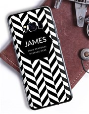 Personalised Herringbone Samsung Cover