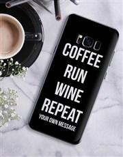 Personalised Run Repeat Samsung Cover