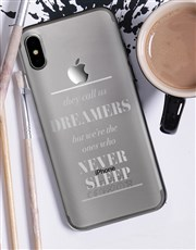 Personalised  Dreamers iPhone Cover