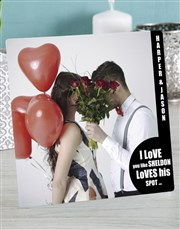 Express your love with this glass tile which house