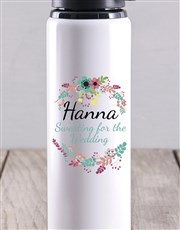 Personalised Sweating For The Wedding Water Bottle