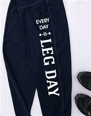 Personalised Leg Day Gym Leggings