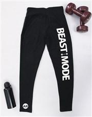 Personalised Beast Mode Gym Leggings