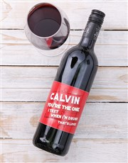 Personalised Text Love Wine