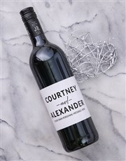 Personalised Couples Card Wine