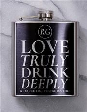 A personalised hip flask is a wonderfully original